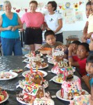 Gingerbread Houses, Volunteers and Kids