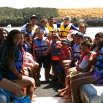 Pontoon Adventures Group on Boat