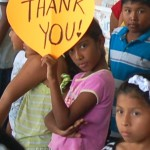 Panamanian girl gives thanks