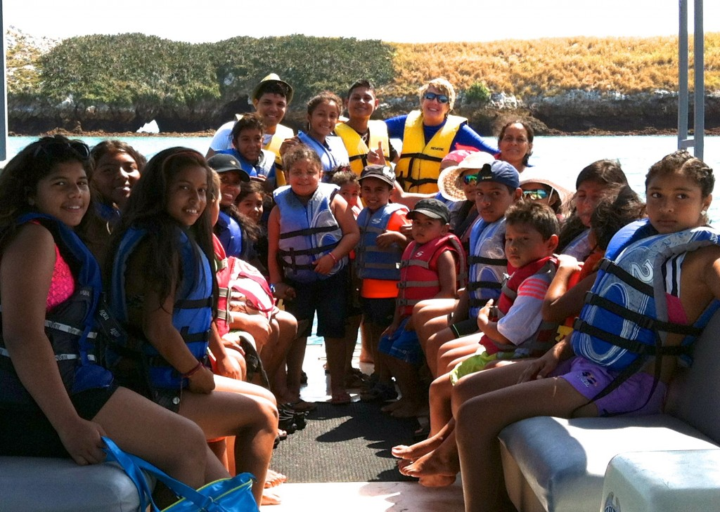 Pontoon Adventures Group on Boat